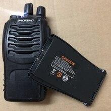 2 uds $TERM impacto Baofeng batería bf 888s walkie talkie 1500mAh LI batería BAOFENG BF 888S 777S 666S Walkie Talkie 2800 botón radio intercomunicador