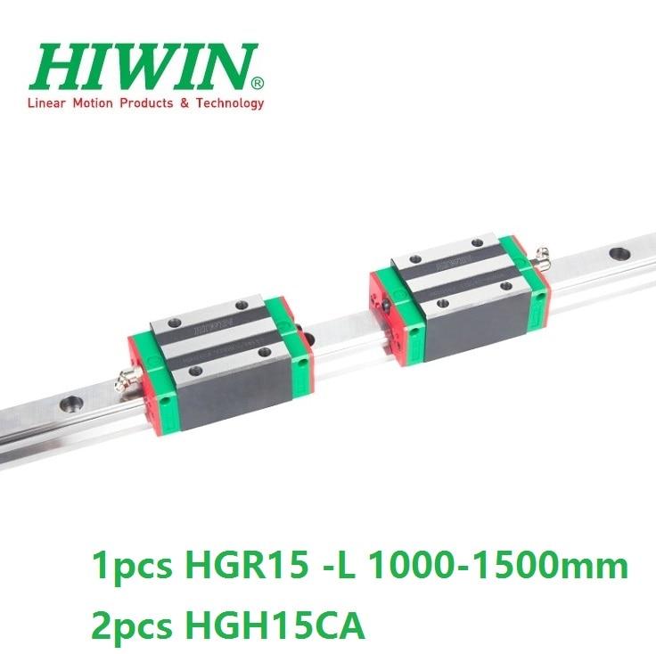 1pcs Original Hiwin linear rail guide HGR15 1000mm 1100mm 1200mm 1300mm 1400mm 1500mm 2pcs HGH15CA Or