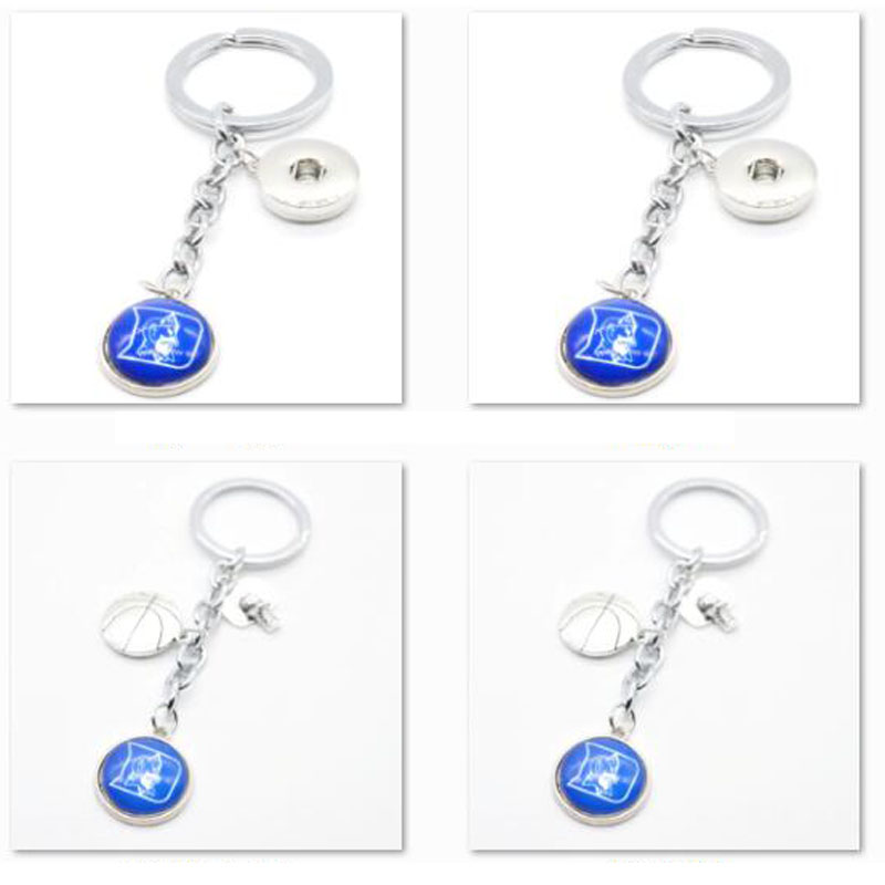 2018 New Basketball Keychain NCAA Duke Blue Devils Charm Key Chain Car Keyring for Women Men Party Birthday Keyrings Gifts