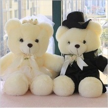 a pair of Wedding bear toys lovers wedding teddy bear dolls wedding gift about 40cm