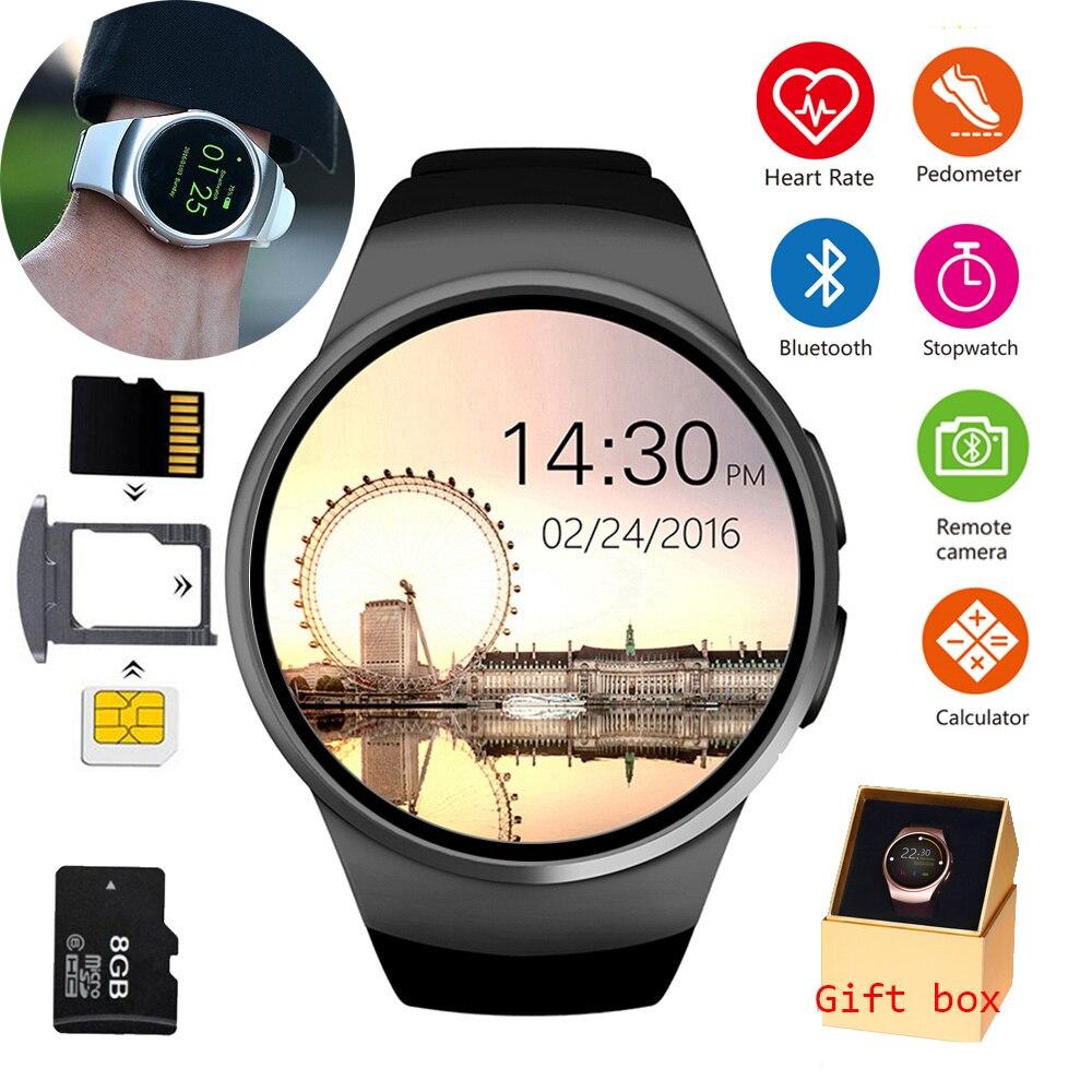 Bluetooth montre intelligente plein écran prise en charge SIM TF carte 2019new Smartwatch téléphone fréquence cardiaque pour apple gear s2 pk huawei xiaomi