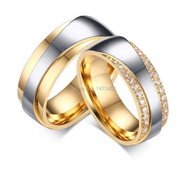 Luxury 1 Pair Lover S Plating Cz Dia Mond New Infinity Design Wedding Bands Engagement Rings Sets