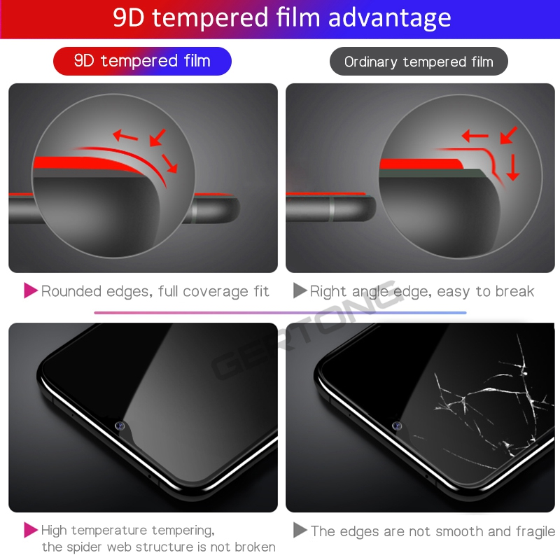 9D Tempered Glass For Xiaomi Redmi Note 7 Pro Note 6 5 Pro Screen Protector For Redmi 6 K20 Pro 6A 5 Plus Protective Glass Film 6