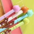 4pcs/lot 0.38mm Lovely Line Bear Friends Gel Ink Pen Cute Colorful Pens For School Office Supplies Stationery Gift