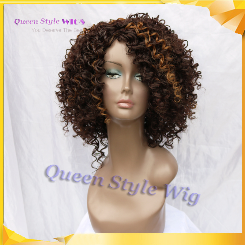 Celebrity hairstyle romance short kinky curly hair wig high celebrity hairstyle romance short kinky curly hair wig high density dark brown highlight blonde color curly wigs for black women on aliexpress alibaba pmusecretfo Image collections