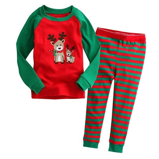 100% Cotton Christmas Pajamas Set Cartoon Boys Sleepwear Children s Pajamas  For Boys 2-7 Years Girls Pajamas Christmas Set 845db8ad1