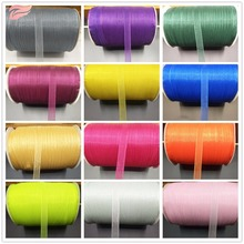 3/810mm Cheap Transparent Ribbon (50m/ Multi) Decorative Gift Wrap Wedding Process Christmas Wrapping  Material
