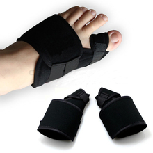 2 шт. = 1 пара большого пальца стопы устройства вальгусной корректор Разделители пальцев ног Педикюр пальца ночь ортопедические скобки ног протектор шины