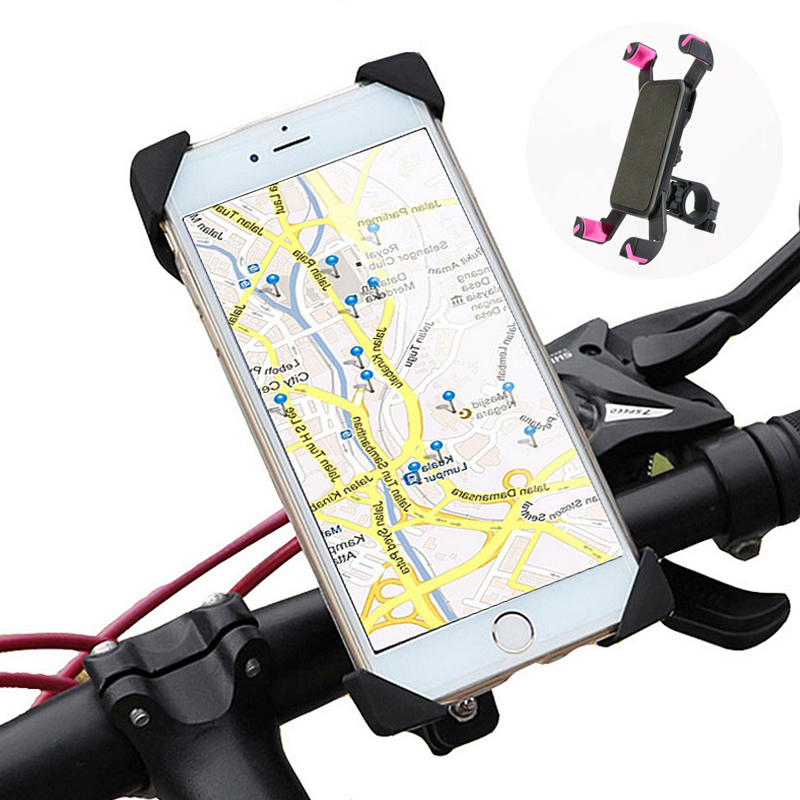 Universal Bicycle Cycle Motorbike Handlebar Clip Smart Phone Mount Holder Stand