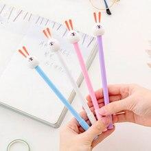цена на 4pcs/lot Creative Fat head rabbit Neutral pen 0.5mm Gel Ink pen black pen student kawaii office supplies gel pen stationery