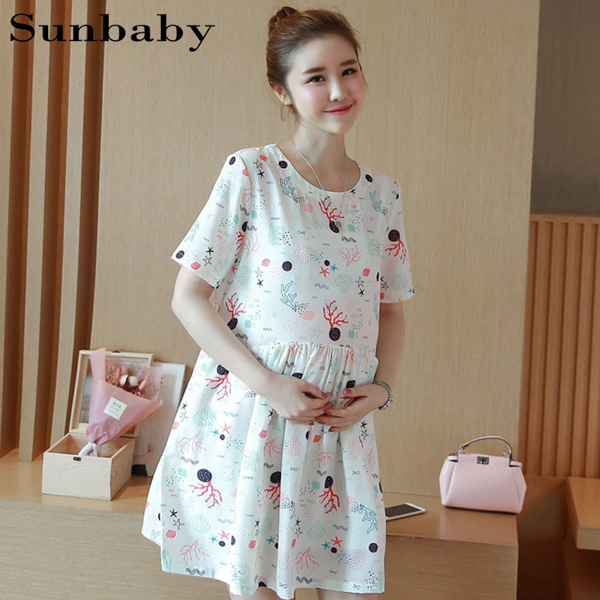 2017 Summer Fashion maternity countryside style A line pregnancy dress casual maternity dresses