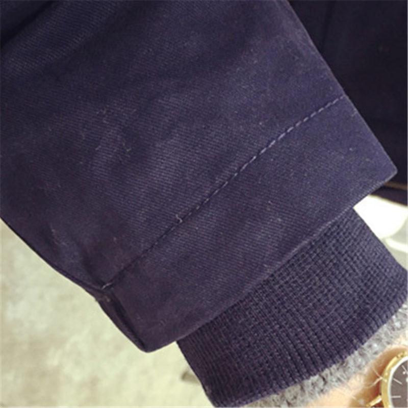 Nueva Loose Medio Largo Invierno de Las Mujeres Capa de la Chaqueta de Lana Ocasional Estudiante de la Universidad de Algodón Caliente ropa de Abrigo capa Femenina WY377