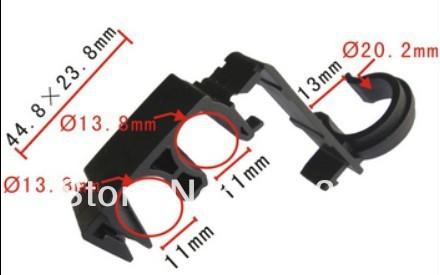 Frete grátis 100 pcs clipe prendedores de clipe de plástico porta do carro routing clip para Toyota Hiace