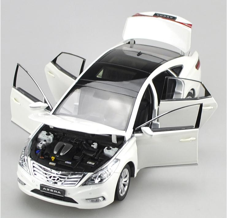 Original 1:18 advanced alloy car model, high simulation HYUNDAI AZERA, 6open doors,exquisite collection model, free shipping e mini training m3 computer case itx desktop power supply aluminum nobility