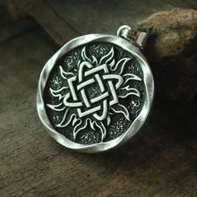 lanseis 1pcs Lada Star pendant Pagan Slavic Amulet symbol warrior talisman charm norse Occult Germanic men necklace