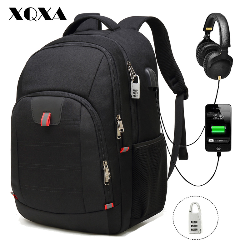 XQXA Laptop Backpack Anti-Theft Travel Backpack Bag USB College School Computer Rucksack Bag for Men 17 Inch Laptop and Notebook цена 2017