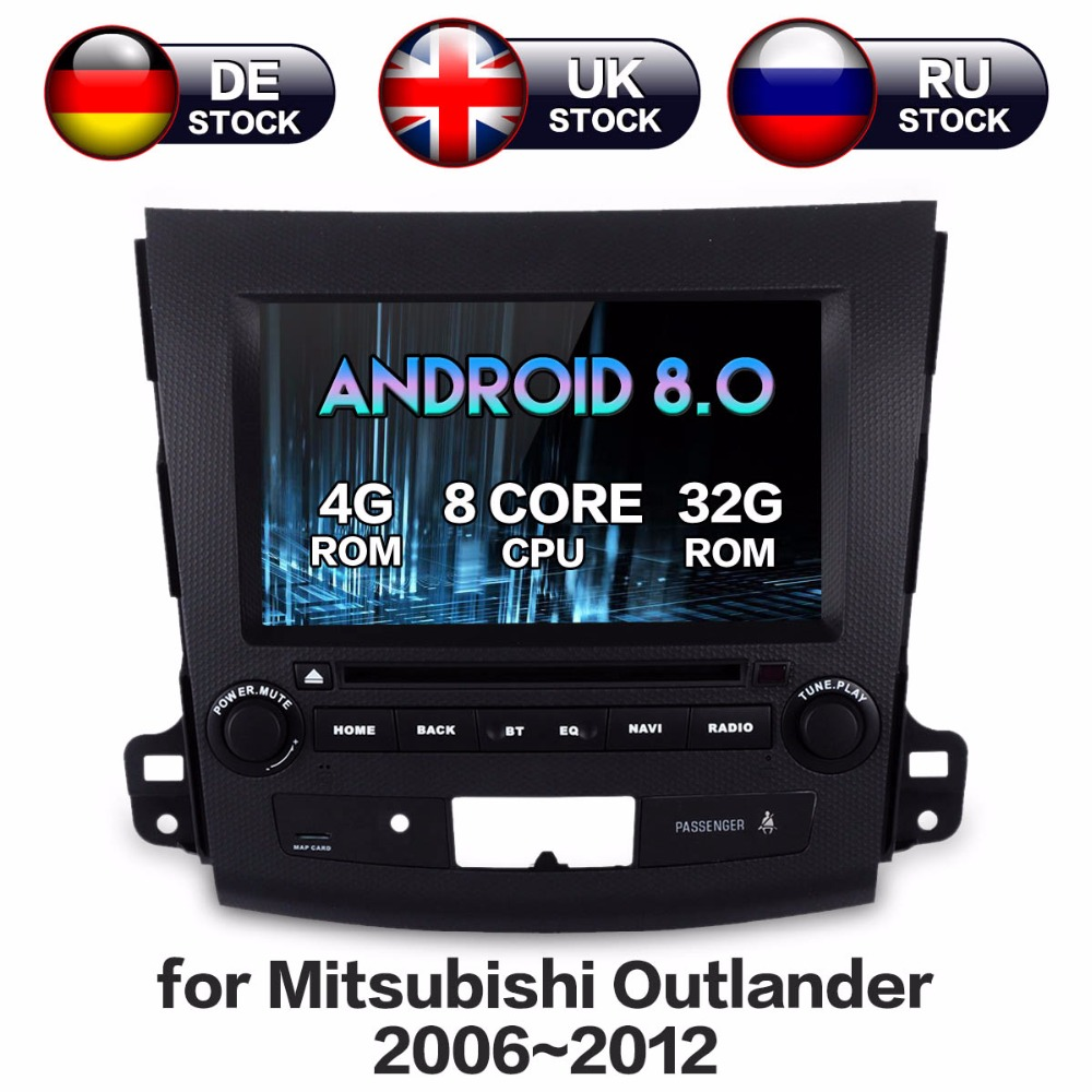 ZWNAV 8 Core 4+32GB Android 8.0 Car Radio Screen DVD GPS For Mitsubishi Outlander 2006-2012 Citroen C-Crosser Peugeot 4007