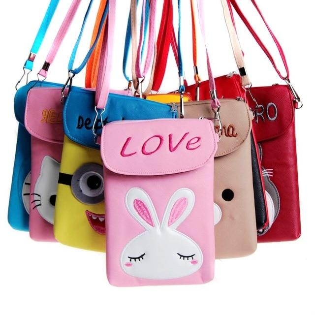 7b9a5f77343b Pink Kawaii Cartoon Anime Girls Crossbody Bags Girls Rabbit Mini Sling  Shoulder Bag for Kids Purses