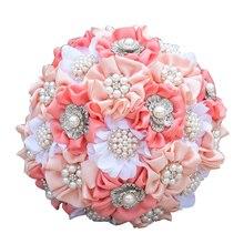 Bride Holding Flowers Romantic Bridesmaid/Bride Wedding Bouquet Gifts bouquet de noiva Customized