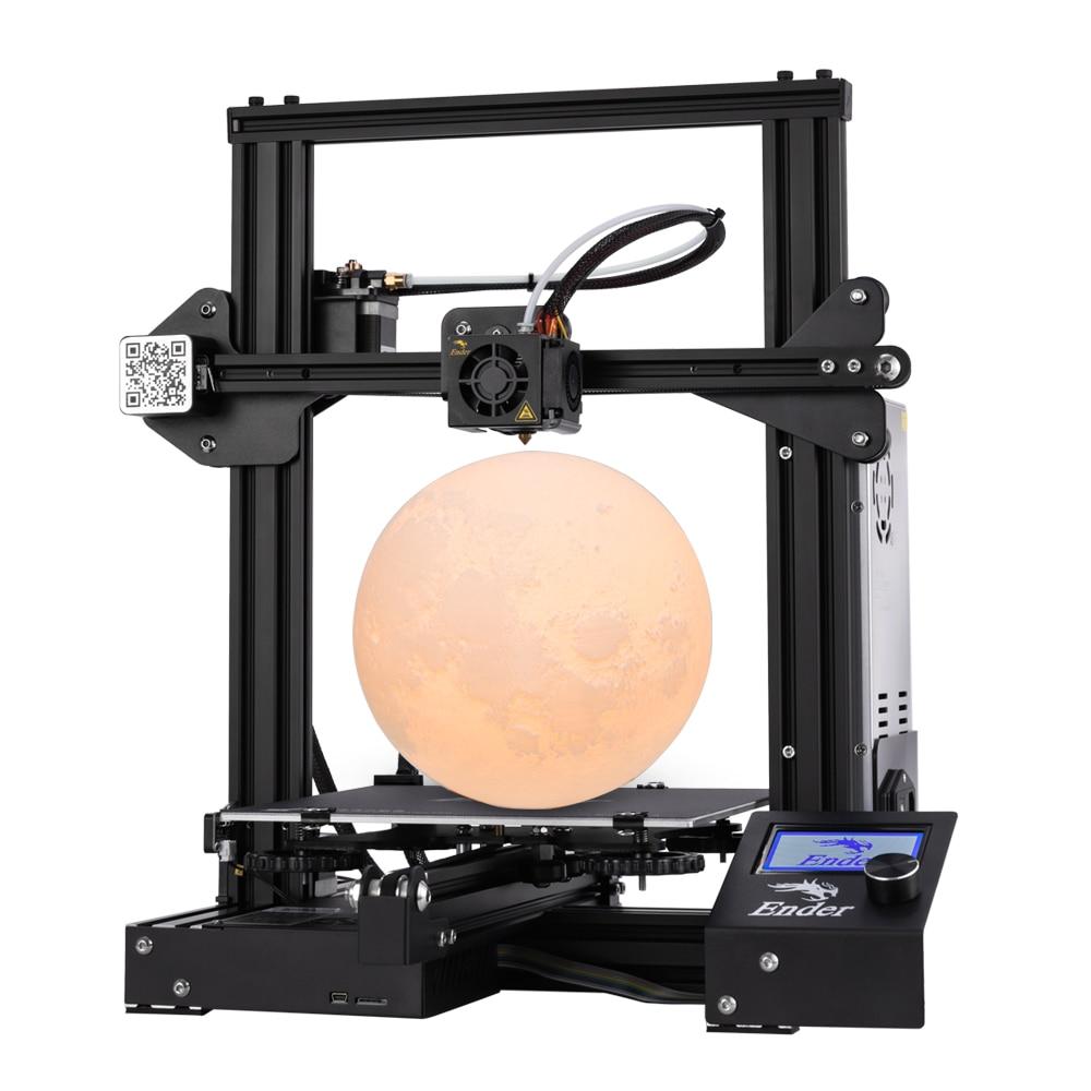 Ender-3 3D Impressora De Grande Tamanho de Impressão de 220*220*250 milímetros Ender 3/Ender-3X Removível Cama i3 Continuação impressão de Falha de Energia