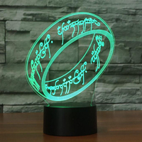 7 Красочные прикроватные сна светильник светодиодный Luminaria палец кольцо 3D Кольца настольная лампа ночник USB Lampara Украшения в спальню подарки