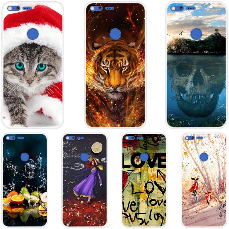 Case For Google Pixel 1 XL Silicone TPU Soft Back Cover Cartoon 3D Painted Phone Cases For Google Pixel 1 4gb 32gb 128GB Fundas image