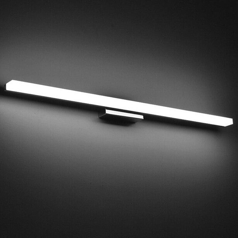 Lámpara de pared de acrílico moderna de luz LED para espejo larga AC90-260V iluminación de baño impermeable