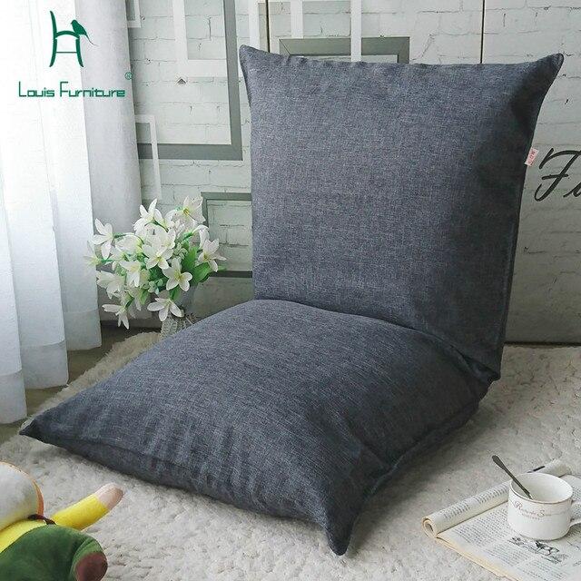 Louis Fashion Living Room Sofa Lazy Japanese Tatami Single Floor Leg