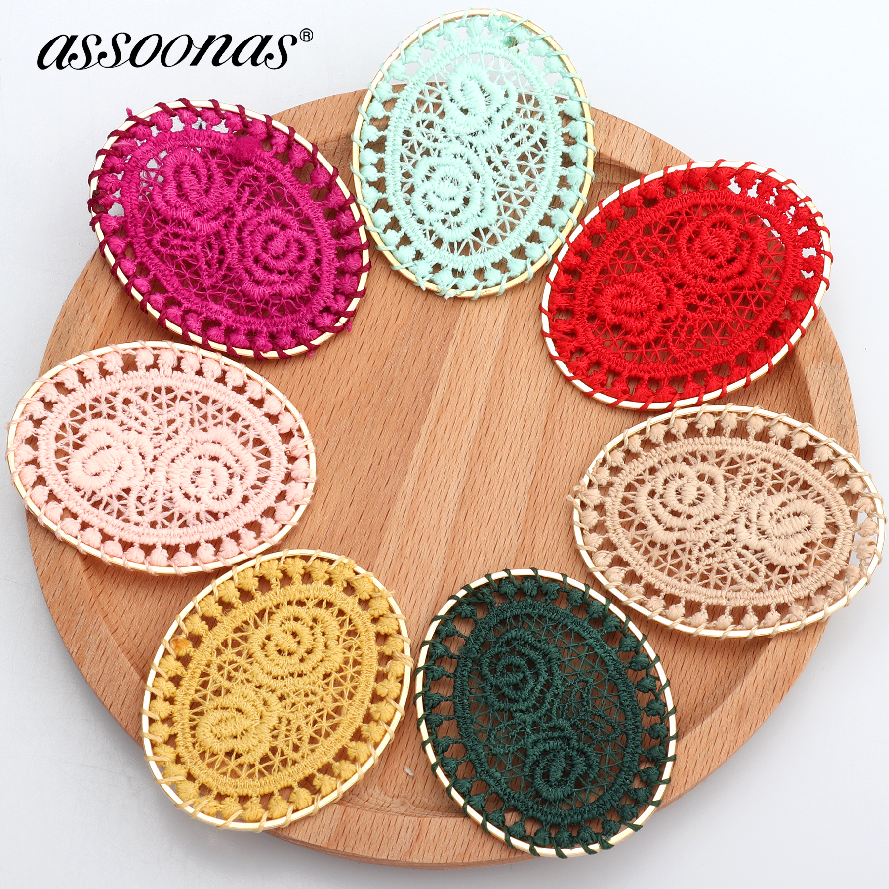 Assoonas M367,jewelry Accessories,jewelry Making,diy Home Clothing Decorative,oval Shape Patch,charm,jewelry Findings,10pcs/lot