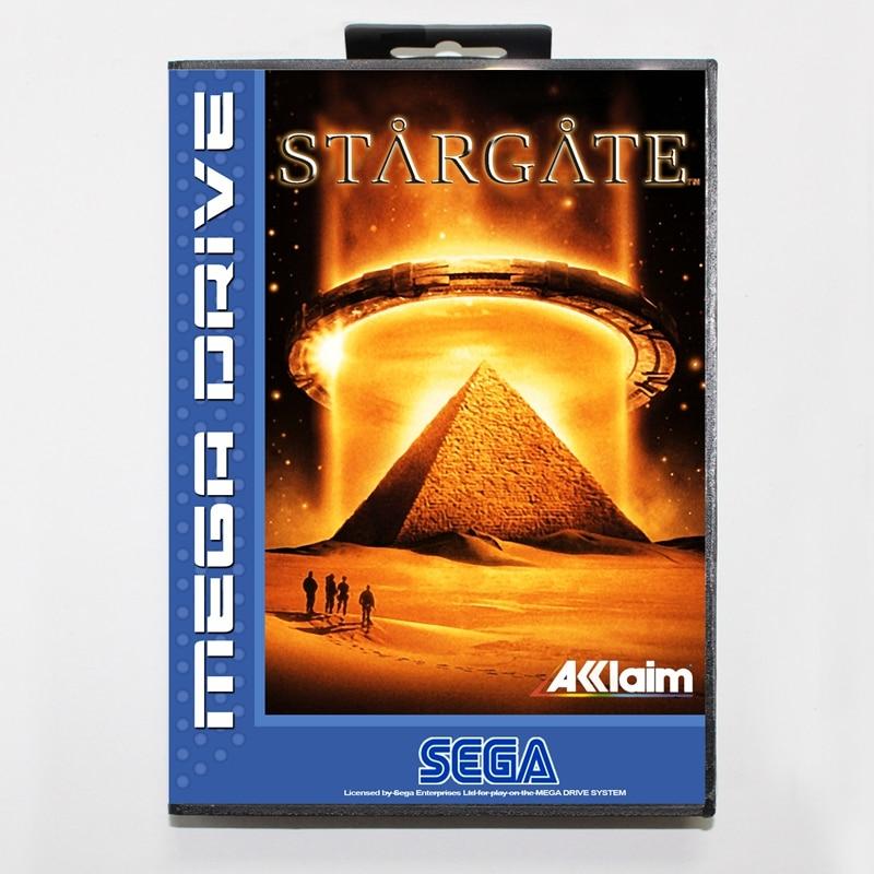 Sega MD games card - Star Gate with box for Sega MegaDrive Video Game Console 16 bit MD card