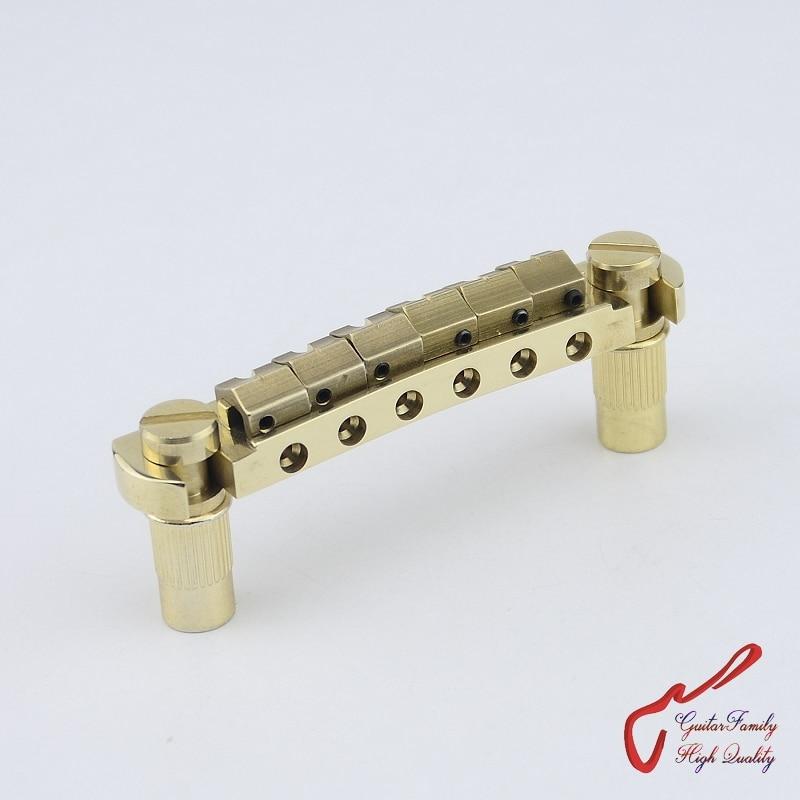 1 Set GuitarFamily Super Quantity All Brass Handmade Wraparound Bridge Tailpiece Electric Guitar Stop Tail MADE IN KOREA