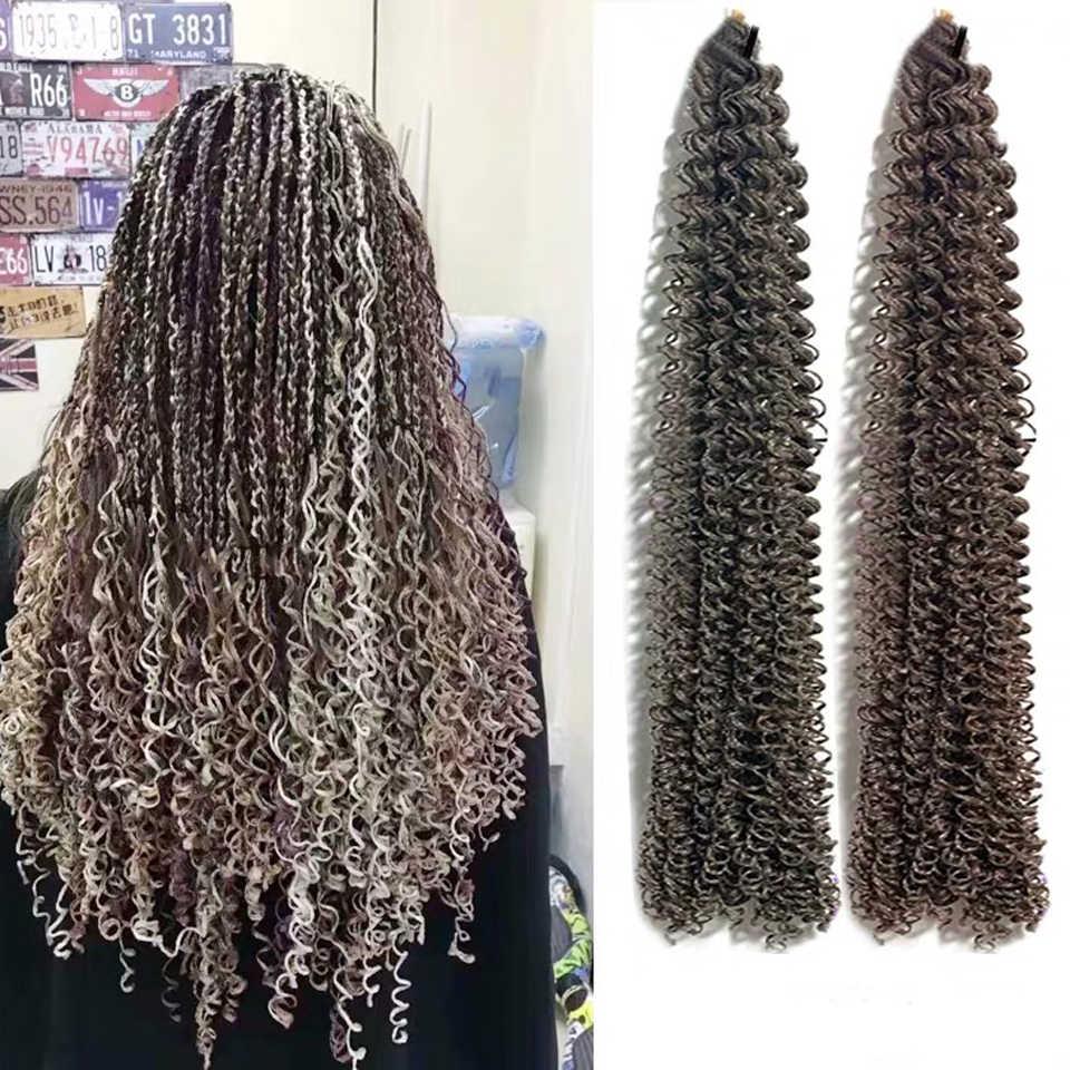 30 אינץ זיזי צמות סרוגה תיבת צמות טוויסט קולעת סינטטי שיער הרחבות 28 שורשים/חבילה ורוד לכתוב סגול באג אפור 613