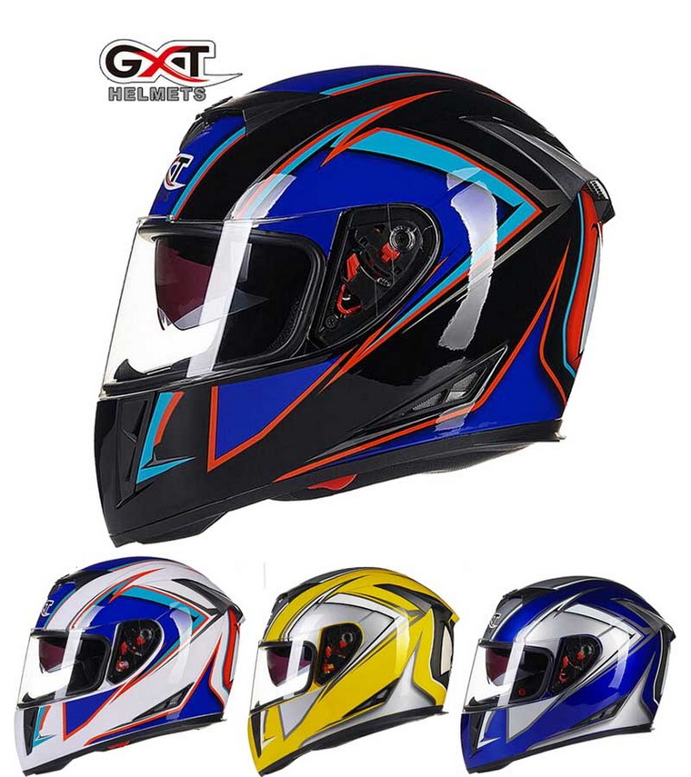 2016 Winter GXT ABS OFF Road full face motorcycle helmet G358 double lens Motocross motorbike helmets have 13 colors size M L XL