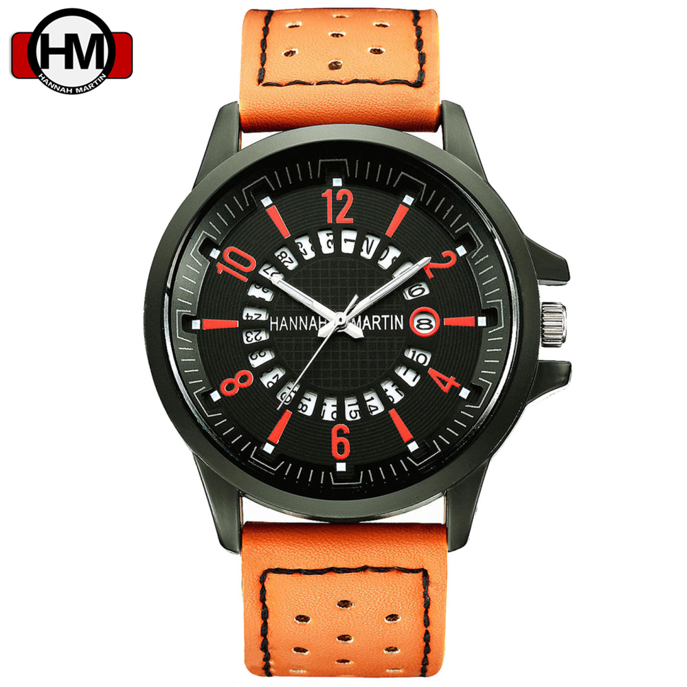 top brand luxury watches mens scrub leather