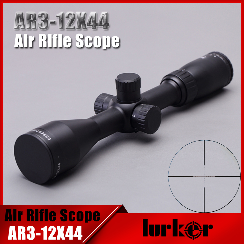 Tactical Essential 3-12X44 AO Air Gun Mil-dot HD Optics Sight Rifle Scopes Hunting Shooting Riflescopes with Two Lens Cover leapers accushot precision 3 12x44 scp3 um312aoiew