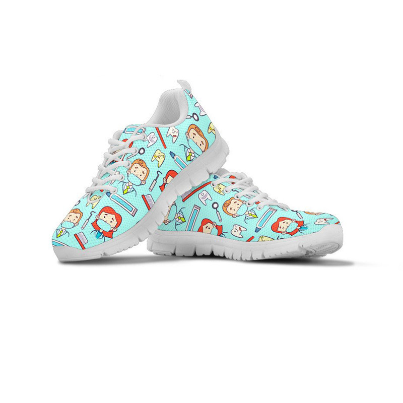 ThiKin LIFE SAVER plate-forme baskets femmes chaussures printemps plat chaussure soins infirmiers baskets respirantes à lacets Zapatos personnalisé