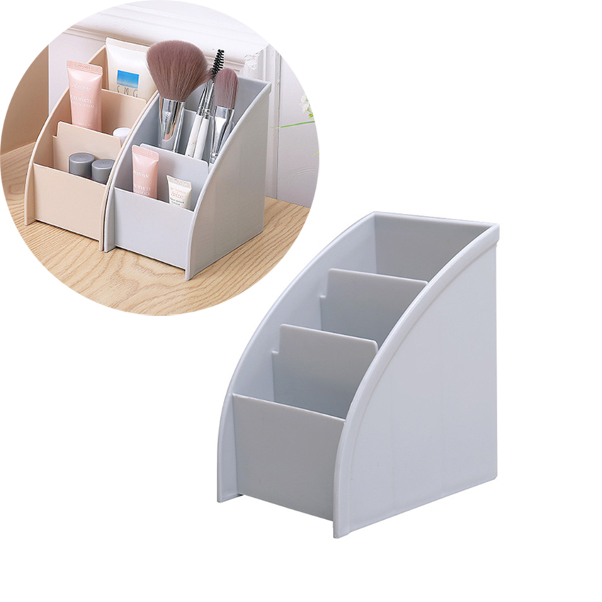 1Pcs Multifunctional Trapezoidal Storage Box Home Desktop Sundries Make Up Organizer <font><b>Remote</b></font> Control Phone Storage Box image
