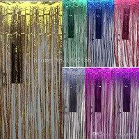 Heißer Verkauf OEM großhandel Hochzeit Hintergrund Lametta Vorhang 1 mt * 4 mt Hängen Streifen Pub Haus Tür Vorhang Bühnenhintergrund 4 Mt
