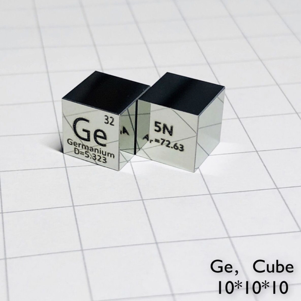 Metal Mirror Germanium Cube for Element Collection Science Experiment High Puirty 99.999% 5N 10x10x10mm Ge 4 Research TeachingMetal Mirror Germanium Cube for Element Collection Science Experiment High Puirty 99.999% 5N 10x10x10mm Ge 4 Research Teaching