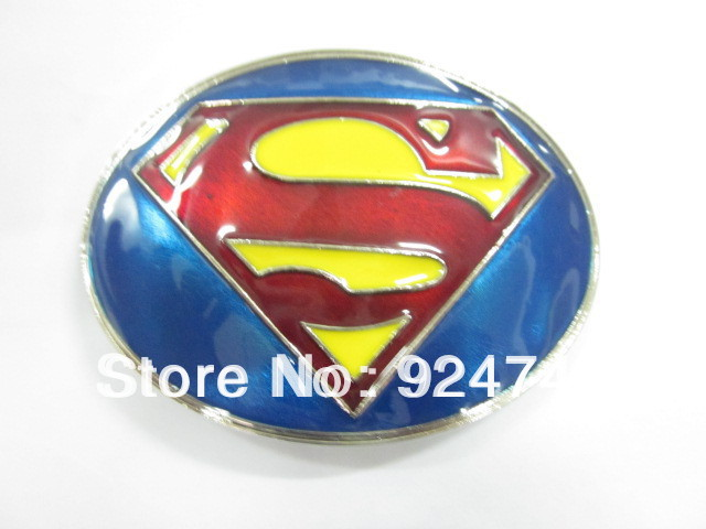 Classic Super Man Super Hero Belt Buckle small size for one piece