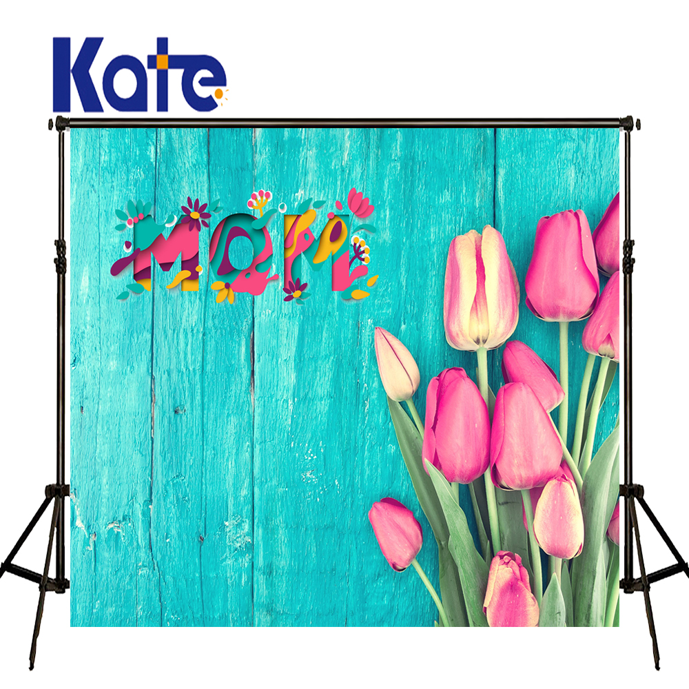 Kate Happy Mothers Day Photography Backdrops Spring Photography Backdrops Blue Flower Wood Background Large Size Seamless Photo kate happy mothers day photography backdrops white flower wood background spring photography backdropsbaby background