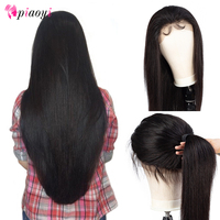 Piaoyi Brazilian 360 Lace Frontal Straight Wigs Pre Plucked With Baby Hair Remy Human Hair Long 13x6 Full Lace Front Wig