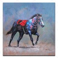 תמונה על קיר ללא מסגרת ציור שמן מופשט יד מצוירת ציור אקריליק מתנה ייחודית צבע תמונות של בעלי חיים סוסים גודל גדול