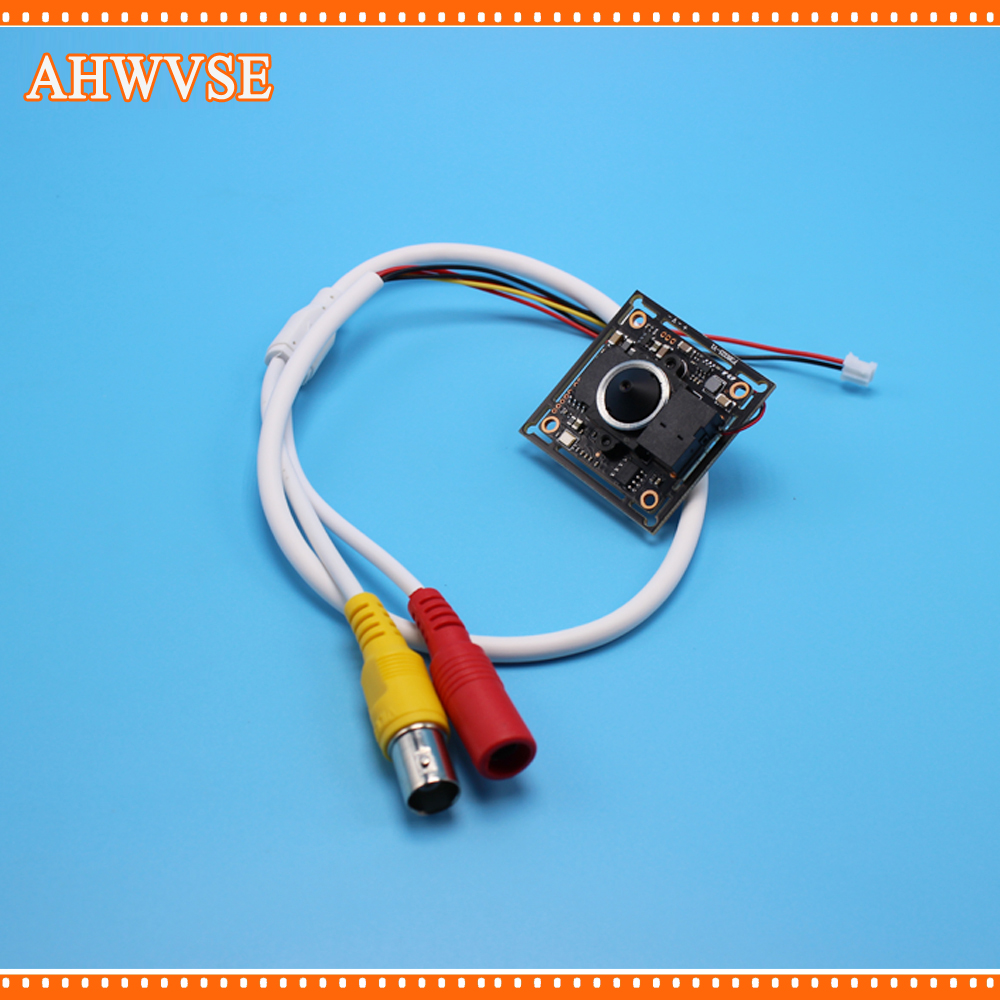 AHWVSE Wide Angle 3.7mm lens CCTV AHD Camera Mini Module wit BNC Cable