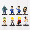 Free Shipping Anime Fullmetal Alchemist PVC Action Figures Toys Dolls New in Retail Box 8pcs/set RETAIL BOX WU669