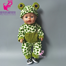 43cm Baby born doll cute animal frog set for 18 inch zapf dolls clothes set for doll girls play gift toy doll accessory