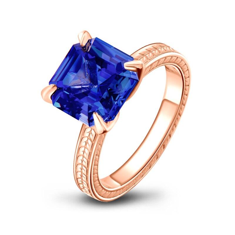 14 Carat Diamond Sterling Silver Ring Natural Gemstone Engagement Ring April Birthstone Ring