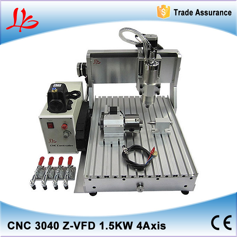 CNC 3040 Z-VFD 4axis CNC engraving machine milling lathe with rotary axis and 1.5KW spindle for metal 110/220V cnc 1610 with er11 diy cnc engraving machine mini pcb milling machine wood carving machine cnc router cnc1610 best toys gifts