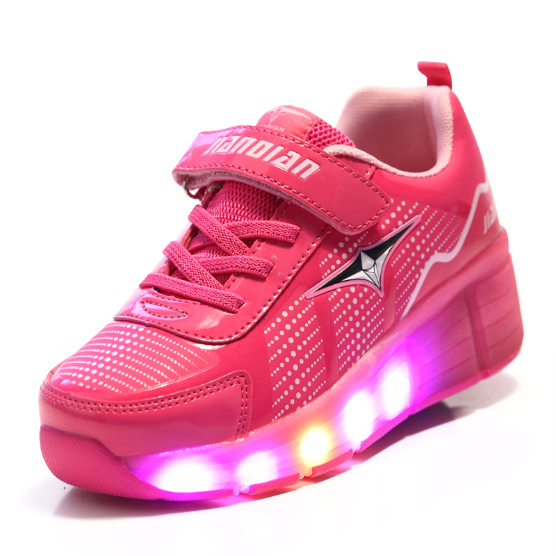 Children shoes Sneakers sapatos Led Flashing Lights Kids 2017 Shoe sapatos for Boys Girls Zapatillas Con Ruedas children roller sneaker with one wheel led lighted flashing roller skates kids boy girl shoes zapatillas con ruedas