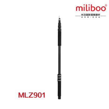 miliboo 300cm/9.9ft  Microphone Boom Carbon Fiber Lightweight Telescoping Micro Boom Pole Holder Mount Stand Interview Filming
